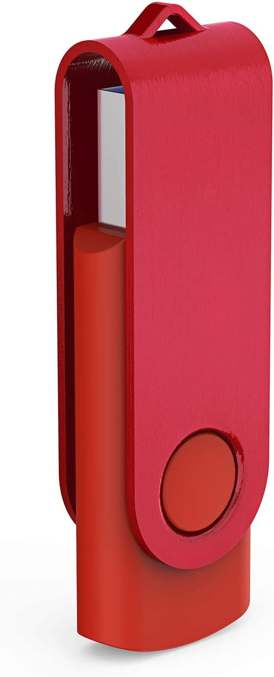 5 Mix-color: Black, White, Red, Yellow, Purple KOOTION 8GB USB FLash Drive 5pack USB 2.0 Stick Swivel Memory Stick 8GB Pen Drive Metal Cap Thumb Drives
