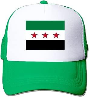 Jinyimingpi Syrian Flag Adult Grid Baseball Caps Adjustable sunshade Hat Mesh Trucker Hat Snapback Cap