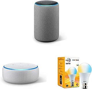 Echo Plus (Grey) bundle with free Echo Dot (White) and free Wipro white smart bulb
