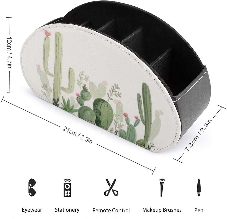 Cactus Bo/îte de rangement pour t/él/écommandes avec 5 compartiments Noir Taille unique