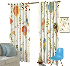 YSING Blackout Curtain Set,All Over Pattern Vector Files Art Elements Pop,for Room Darkening Panels for Living Room, Bedroom,W84 x L108 Inch