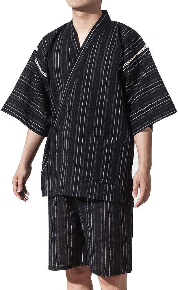 Traje de Estilo japonés Jinbei para Hombre Kimono Pijama tamaño XL