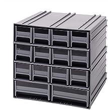 خزانة تخزين رمادية متداخل من كوانتم QIC-12123GY مع 14 درج رمادي، 29 سم في 29 سم في 28 سم