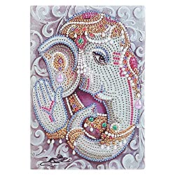 Elephant Rarembellish Shaped Diamond Painting Drawing Notebook