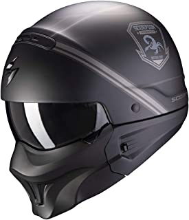 Scorpion Herren NC Motorrad Helm, Schwarz/Grau, S