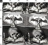 Schwarz Weiß, Totenköpfe, Fledermäuse, Vögel, Flügel,