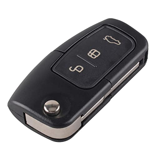 Heart Horse Compatible With Ford Focus Fiesta C Max Ka  Button Flip Remote Key Fob