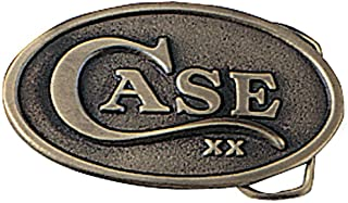Case Knives 934 Oval Belt Buckle with Brass Construction & Embossed Case XX L...