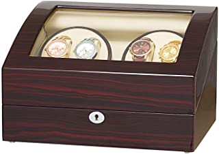 4 Automatic Watch Winder with 6 Storage Case