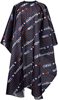 Flagsky Professional Barber Cape,Polyester Hair Cutting Salon Cape,Water And Stain Resistant Apron,Cutting Hair Beard Hairdressing Cape Anti-Static Haircut,Red Black & Blue,57×61 inch