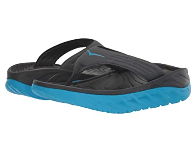 Hoka One One Ora Recovery Flip (Ebony/Dresden Blue) Men