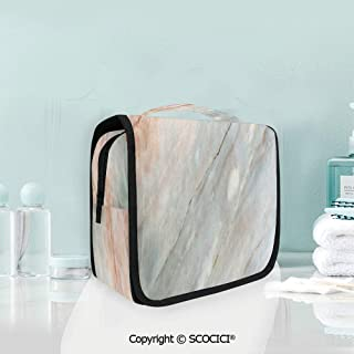 SCOCICI Travel Hanging Wash Bag Kit Onyx Stone Textured Natural Featured Au