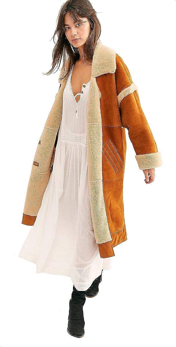 Free People, Women's Aspen Coat, Chestnut, Size XS
