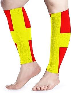 Bandera de señalización de manga de compresión de pantorrilla Shin de pantorrilla compatible con calcetines de compresión de piernas - Hombres Mujeres