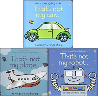 Thats not my touchy feely series 1 :3 books collection (plane,car,robot) Board book By Fiona Watt