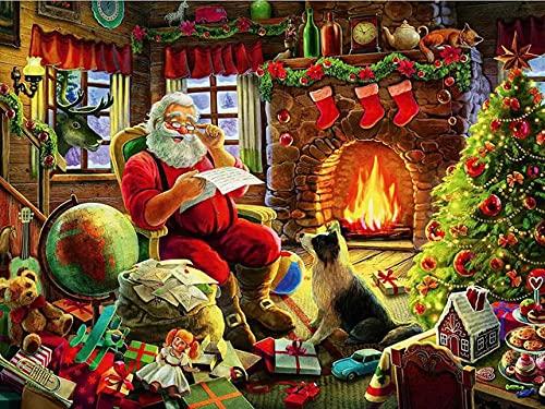 ZMGYA para Adultos Juego de Puzzle Puzzle de 1000 Piezas Santa Claus-5000 Buenas Colecciones y Regalos de cumpleaños,Rompecabezas de Piso Juego de Rompecabezas y Juego Familiar