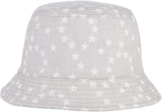 RoyalDS Cute Sun hat boy Girl Spring and Summer Five-Pointed Star Print Sun Fisherman hat Size 52CM (Color : Light Gray, Size : 52)