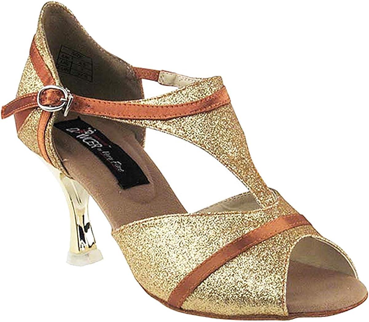 Women's Ballroom Dance Shoes Tango Wedding Salsa Shoes CD3007EB Comfortable-Very Fine 3
