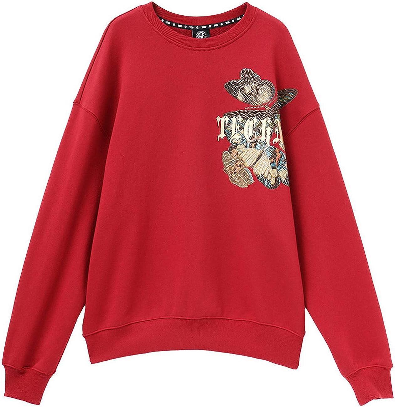 Light Luxury Tide Brand Large C hot Beads Round Neck Sweater T194116028