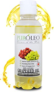 PURÓLEO 100% Natural and Pure Grapeseed Oil 8 Fl Oz   Moisturizer & Carrier Oil   Beauty & DIY blend