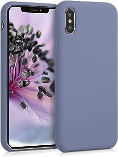 kwmobile Hülle kompatibel mit Apple iPhone X   Handyhülle gummiert   Handy Case in Lavendelgrau