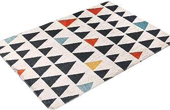 WXQ Living Room Creative Carpet Home Textile Non-Slip Carpet Bedroom Thick Bedside Carpet Geometric Bedroom Carpet Nordic ...