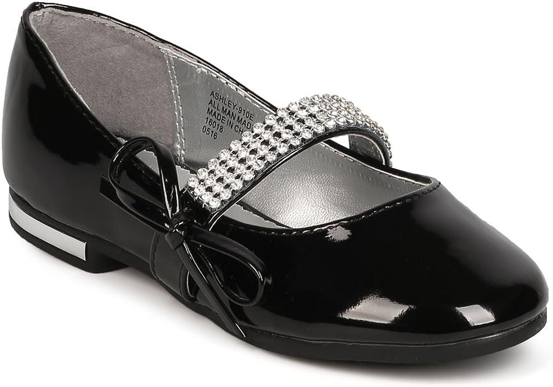 Girl Patent Leatherette Rhinestone Bow Tie Mary Jane Ballerina Flat GC44