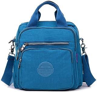 Crossbody Bags for Women Multi-Pocket Nylon Shoulder Bag Travel Backpack Purse