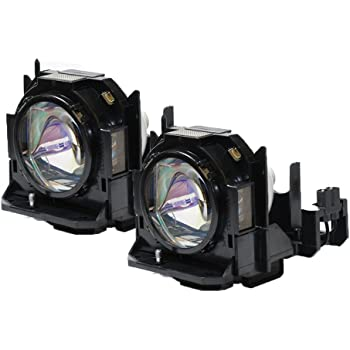 PT-D6000S Panasonic Twin-Pack Projector Lamp Replacement Projector Lamp Assembly with Genuine Original Ushio Brand Bulb Inside.