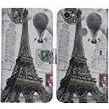 TienJueShi Eiffel Tower Book-Style Flip Leather Protector
