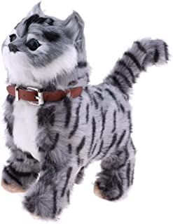 Walking Meowing Cat Animals Soft Toy Plush Toy for Children Pet,Gray