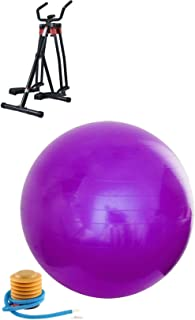 Fitness World Exercise Device for Arms and Legs with Yoga Ball GYM 85CM Balance Stability Ball For Yoga Fitness And Exerci...