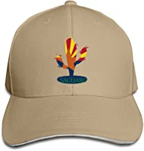 Unisex Arizona State Flower Saguaro Hip Hop Snapback Sandwich Peaked Cap Red