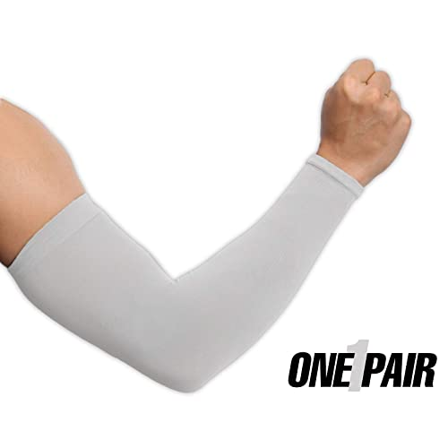 53a1c06c2e1 UV Protection Cooling Arm Sleeves - UPF 50 Long Sun Sleeves for Men   Women.