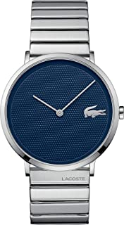 Lacoste Men's Moon Quartz Watch with Stainless-Steel Strap, Silver, 20 (Model: 2010953)