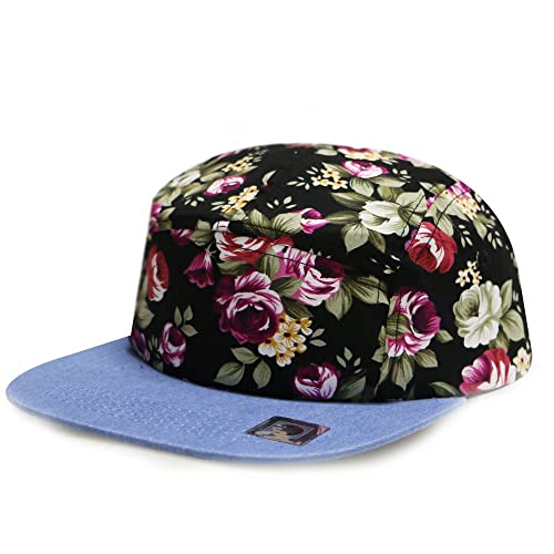 City Hunter Cn280P Plain Flower 5 Panel Biker Hat (3 Colors)