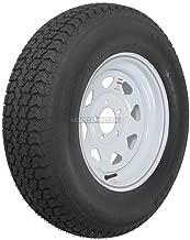 eCustomrim Eco Trailer Tire On Rim ST225/75D15 15 in. Load D 5 Lug White Spoke