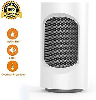 Acyon Calefactor Mini PTC Cerámica con Ventilador Pequeño 600w Electricos Bajo Consumo para Uso Personal para Hogar y Oficina Protección del Sobrecalentamiento Silencioso,A:White