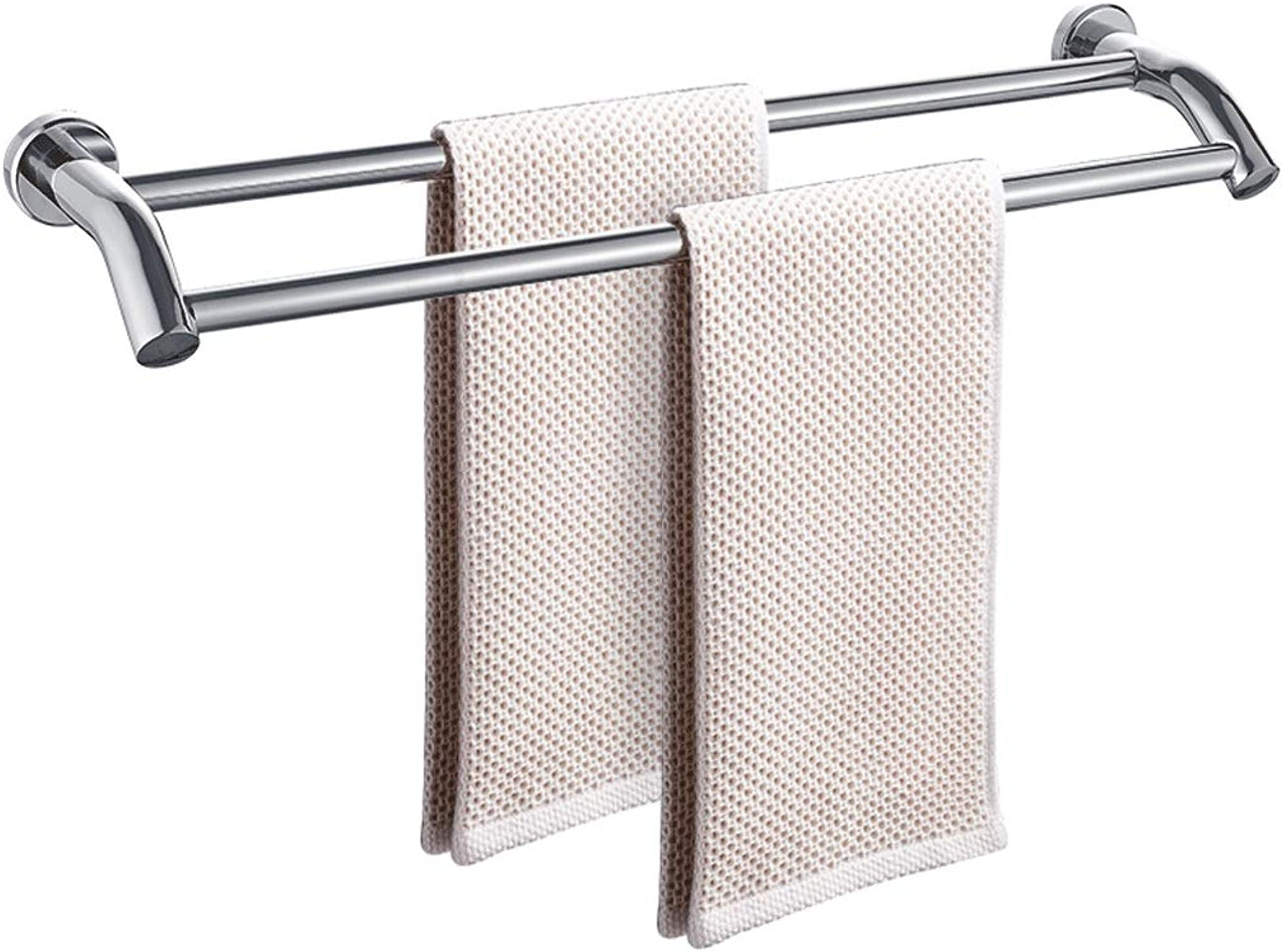 Entrega directa y rápida de fábrica WYDM Toallero Toallero Toallero 304 toallero de Acero Inoxidable Barra Colgante toallero bao Accesorios de bao (Tamaño   L70CM)  online barato