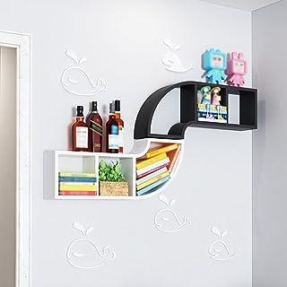 Strong Sturdy bookshelf Wall-mounted bookshelf, wall shelf partition wall cabinet wall hanging wall creative lattice decor...