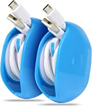 Portable Cord Master Solution for in-Ear Headphones, Earbuds, Cord, Wire, Automatic Cord Manager Combination, Multifunctional Organizer for Protection & Carry (Blue)