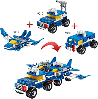 6 in1 Building Bricks Toys, Robot Building Blocks Kits...