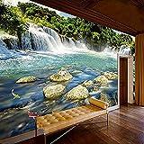 Foto 3D Cascada Naturaleza Paisaje Grandes Murales Pintura de pared Sala de estar Dormitorio Fondo de pantalla papel pintado pared dormitorio de estar sala de estar fondo No tejido-400cm×280cm