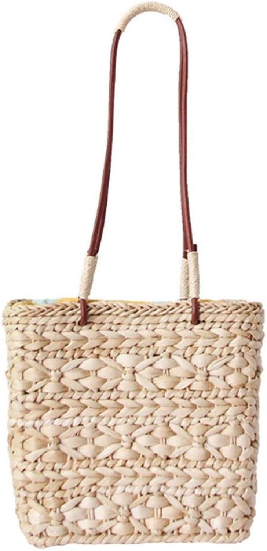 9c27dc806456 Summer Beach Straw Totes Woven Shoulder Bag Rattan Women Straw ...