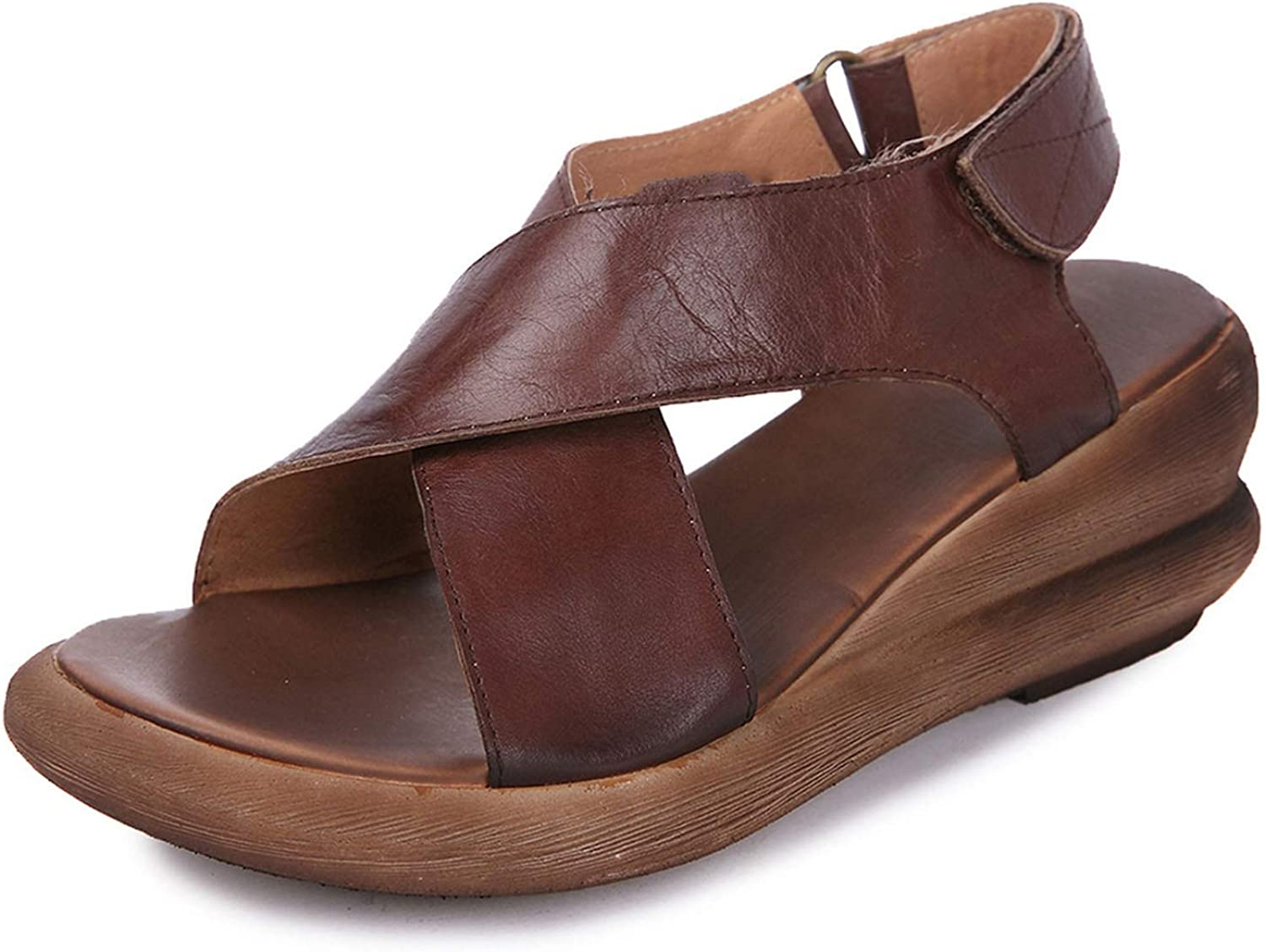 Women Genuine Leather Hand-Made Sandal Retro and Stylish shoes for Women
