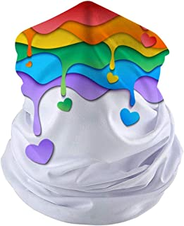 LIMOMO Rainbow Dust Mask Bandanas for Outdoor Sports Riding Hiking (11.8 `` / 10 ``)