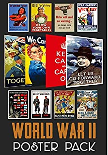 World War 2 Propaganda Poster Pack (12 posters) WWII - ideal for schools - A4 Paper Size