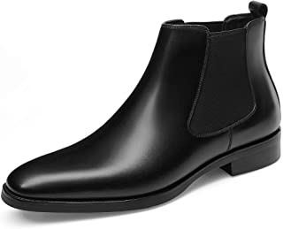 Sponsored Ad - GIFENNSE Mens Chelsea Boots Leather Dress Boots for Men
