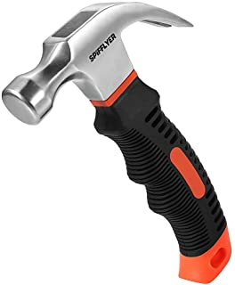 Spifflyer 8 OZ Small Claw Hammer Mini Stubby Hammers and Nails Tool, Bright Polished..