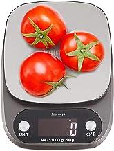 ميزان طعام الكتروني رقمي عالي الدقة للمطبخ من جورنيز مع منصة مطلية بالكروم وشاشة عرض ال سي دي كبيرة